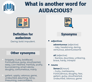 audacious, synonym audacious, another word for audacious, words like audacious, thesaurus audacious