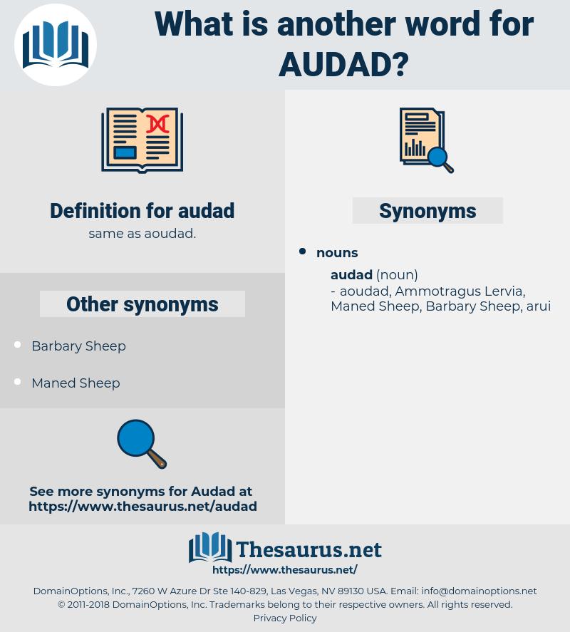 audad, synonym audad, another word for audad, words like audad, thesaurus audad