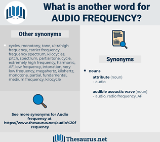 audio frequency, synonym audio frequency, another word for audio frequency, words like audio frequency, thesaurus audio frequency