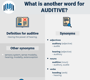 auditive, synonym auditive, another word for auditive, words like auditive, thesaurus auditive