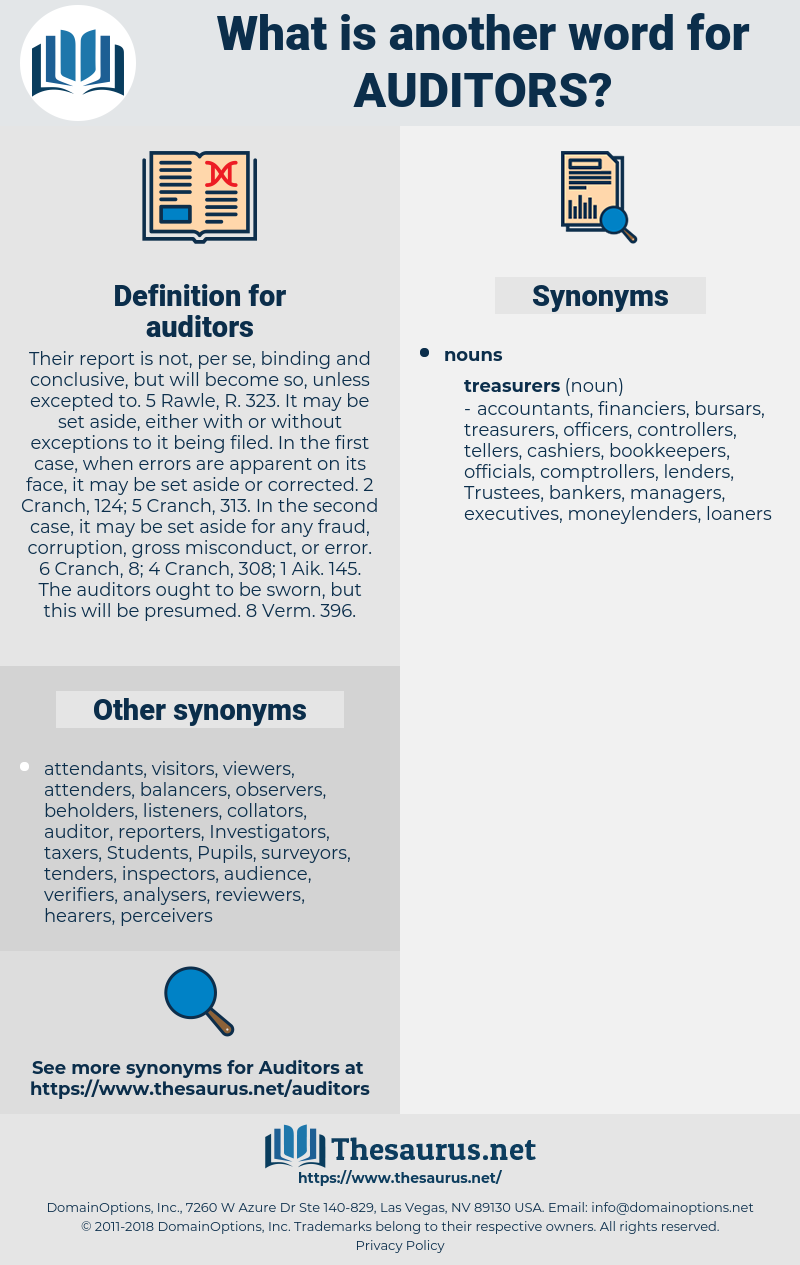 auditors, synonym auditors, another word for auditors, words like auditors, thesaurus auditors