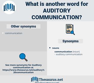 auditory communication, synonym auditory communication, another word for auditory communication, words like auditory communication, thesaurus auditory communication