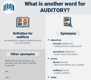 auditory, synonym auditory, another word for auditory, words like auditory, thesaurus auditory