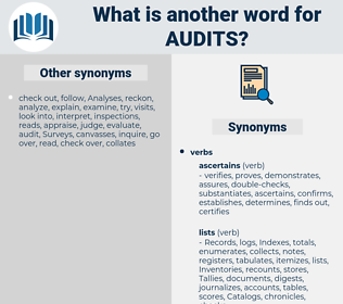 audits, synonym audits, another word for audits, words like audits, thesaurus audits