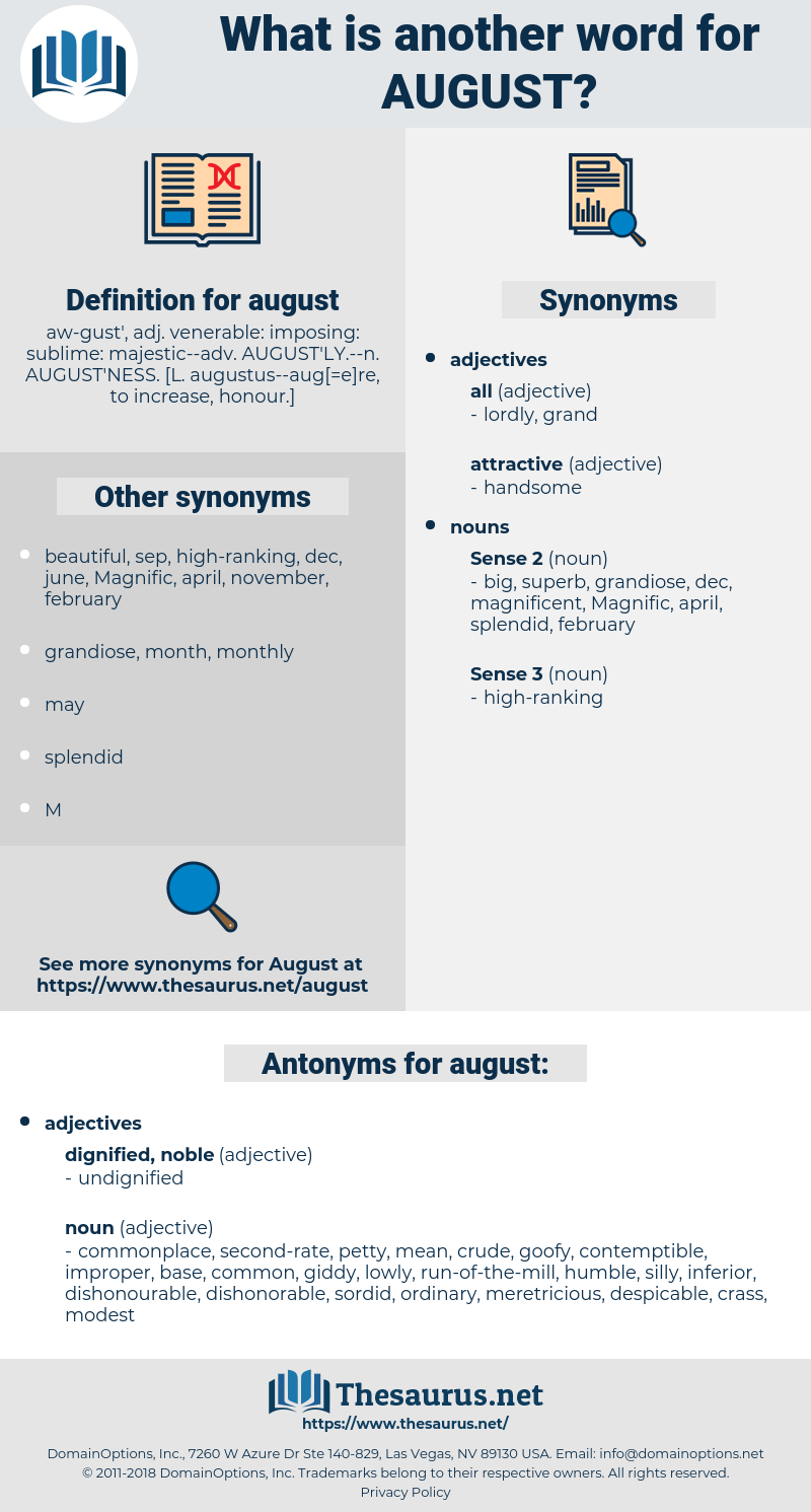 august, synonym august, another word for august, words like august, thesaurus august