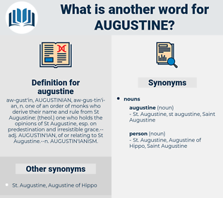 augustine, synonym augustine, another word for augustine, words like augustine, thesaurus augustine