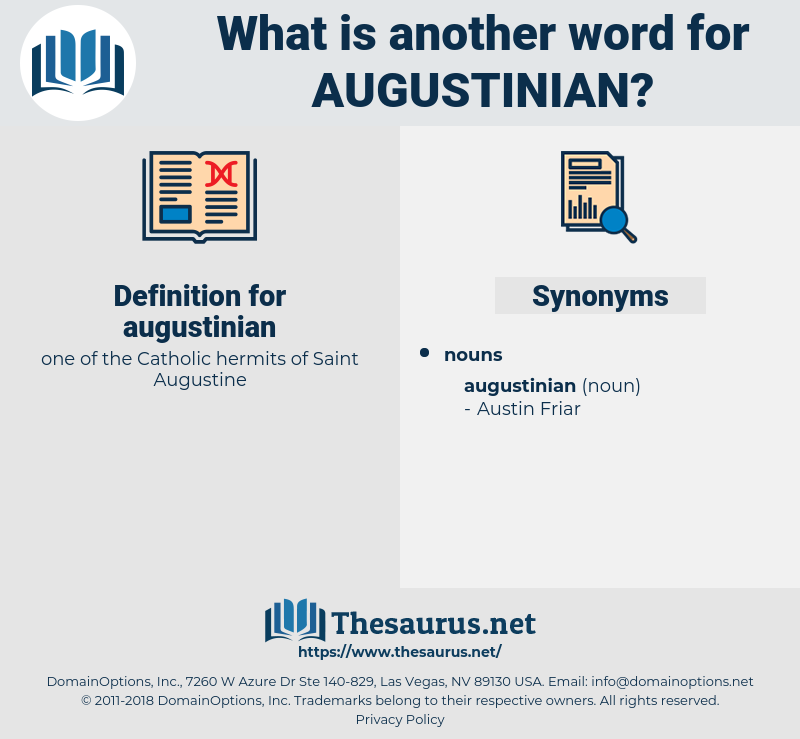 augustinian, synonym augustinian, another word for augustinian, words like augustinian, thesaurus augustinian