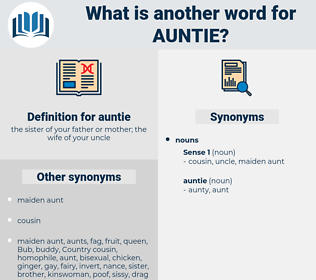 auntie, synonym auntie, another word for auntie, words like auntie, thesaurus auntie