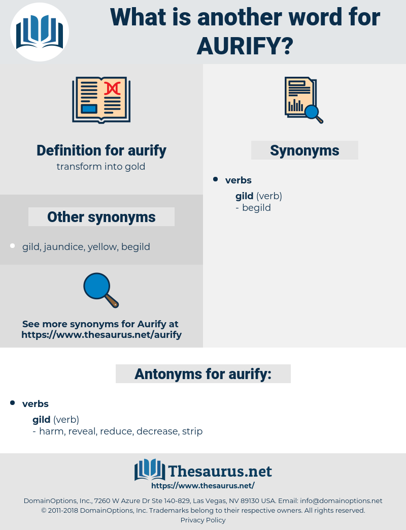 aurify, synonym aurify, another word for aurify, words like aurify, thesaurus aurify