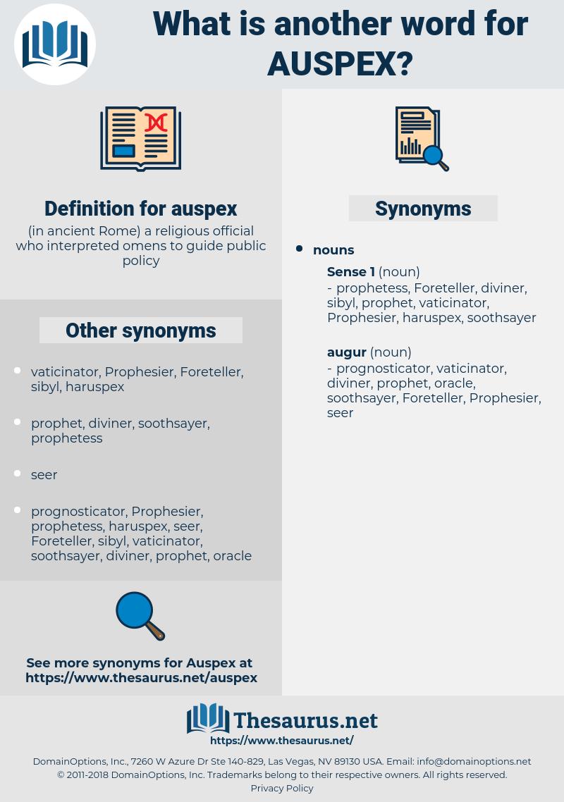 auspex, synonym auspex, another word for auspex, words like auspex, thesaurus auspex