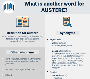 austere, synonym austere, another word for austere, words like austere, thesaurus austere