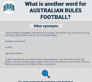 Australian Rules football, synonym Australian Rules football, another word for Australian Rules football, words like Australian Rules football, thesaurus Australian Rules football