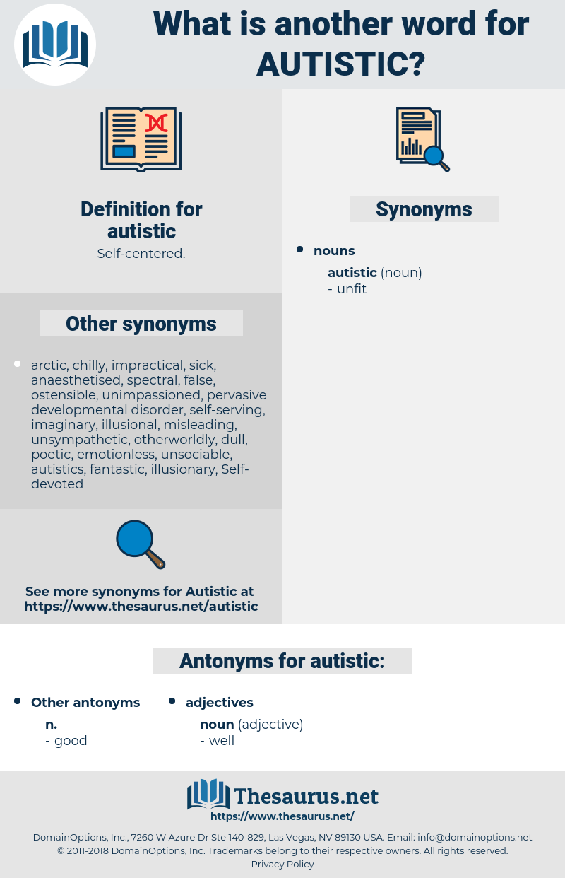 autistic, synonym autistic, another word for autistic, words like autistic, thesaurus autistic