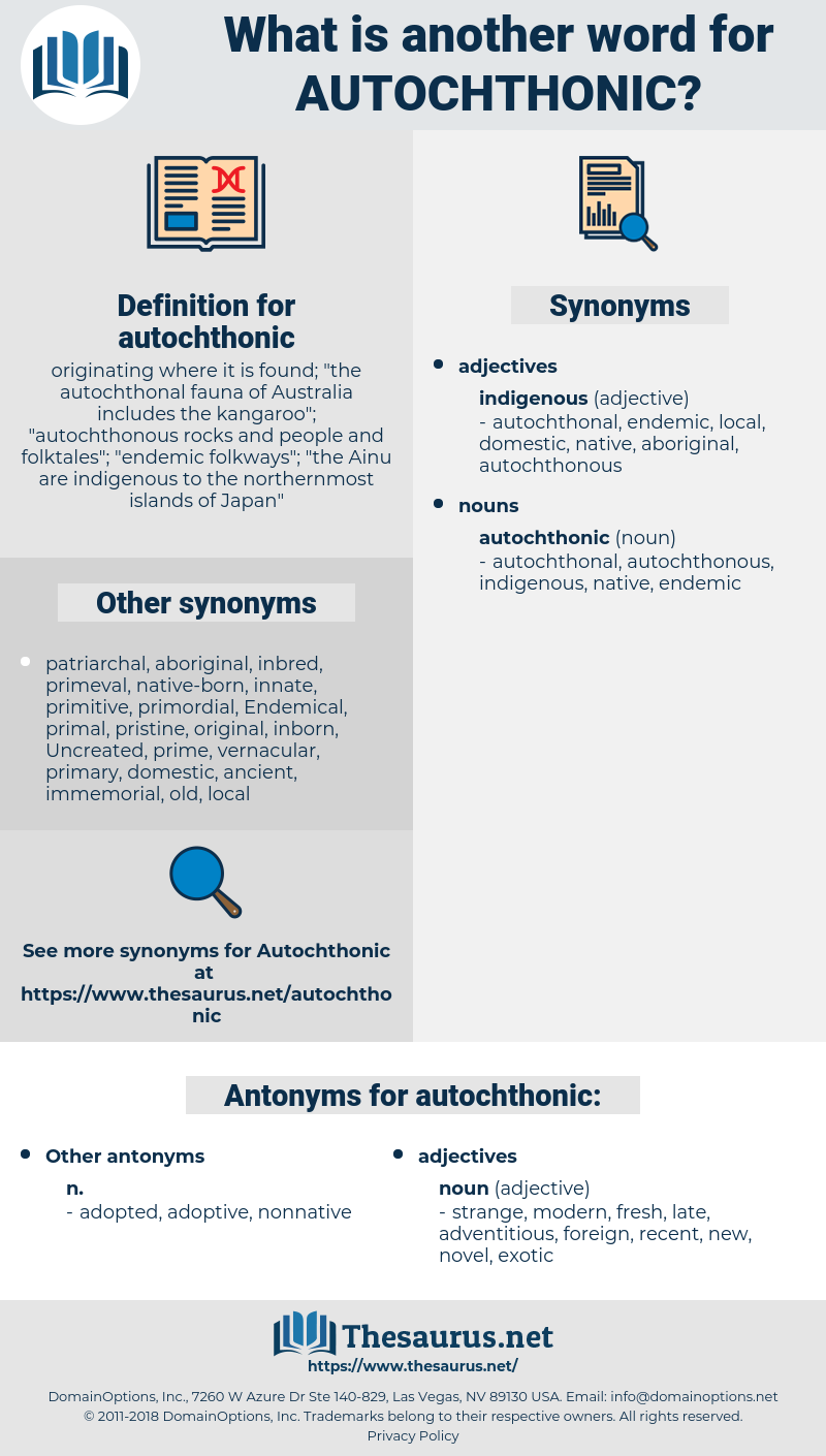 autochthonic, synonym autochthonic, another word for autochthonic, words like autochthonic, thesaurus autochthonic