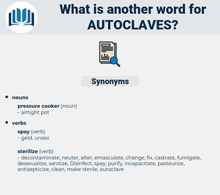 autoclaves, synonym autoclaves, another word for autoclaves, words like autoclaves, thesaurus autoclaves
