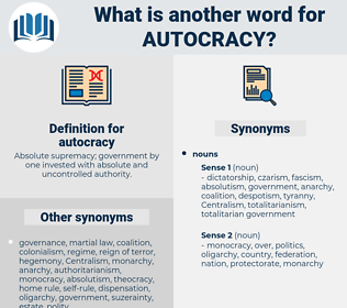 autocracy, synonym autocracy, another word for autocracy, words like autocracy, thesaurus autocracy