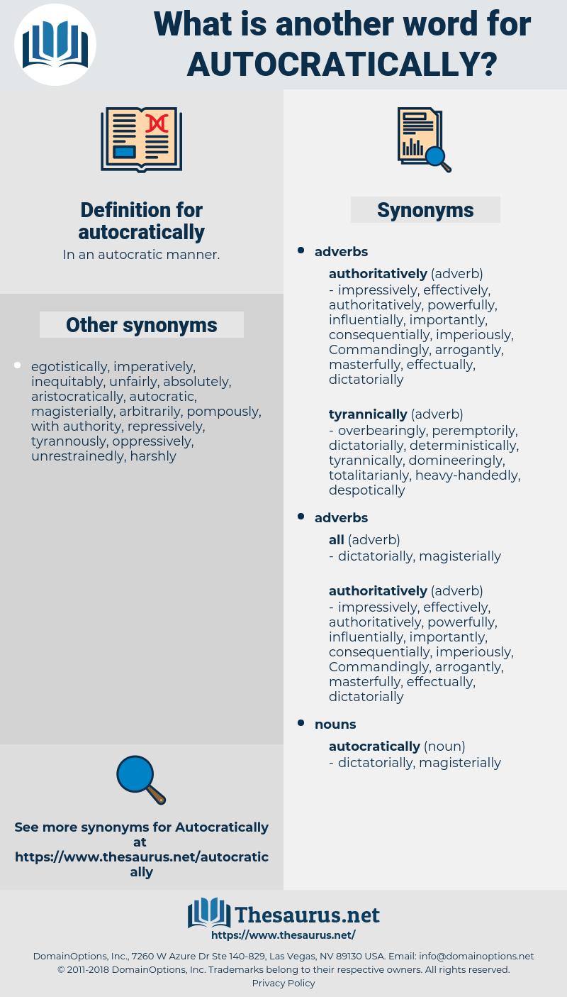 autocratically, synonym autocratically, another word for autocratically, words like autocratically, thesaurus autocratically