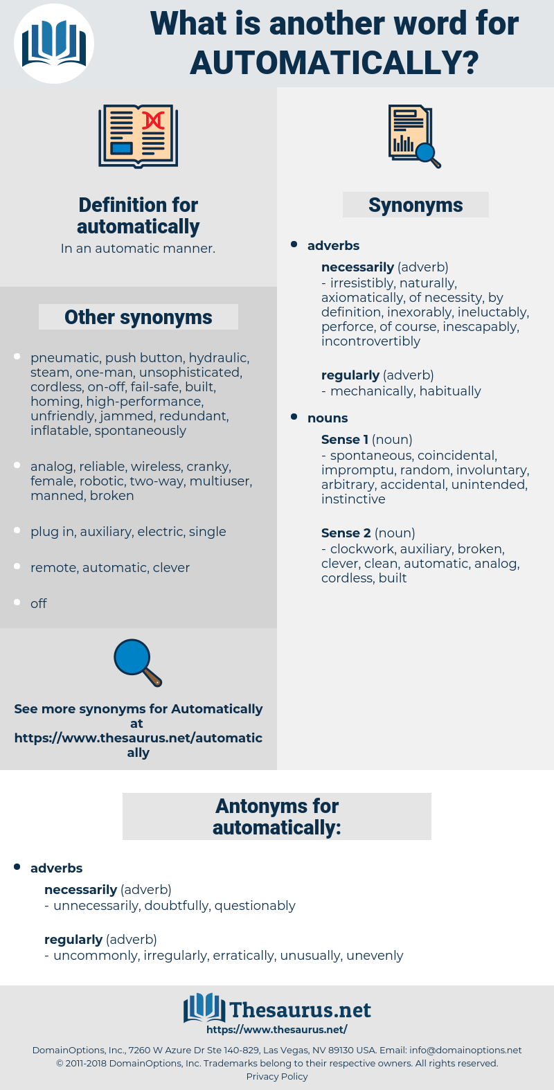 automatically, synonym automatically, another word for automatically, words like automatically, thesaurus automatically