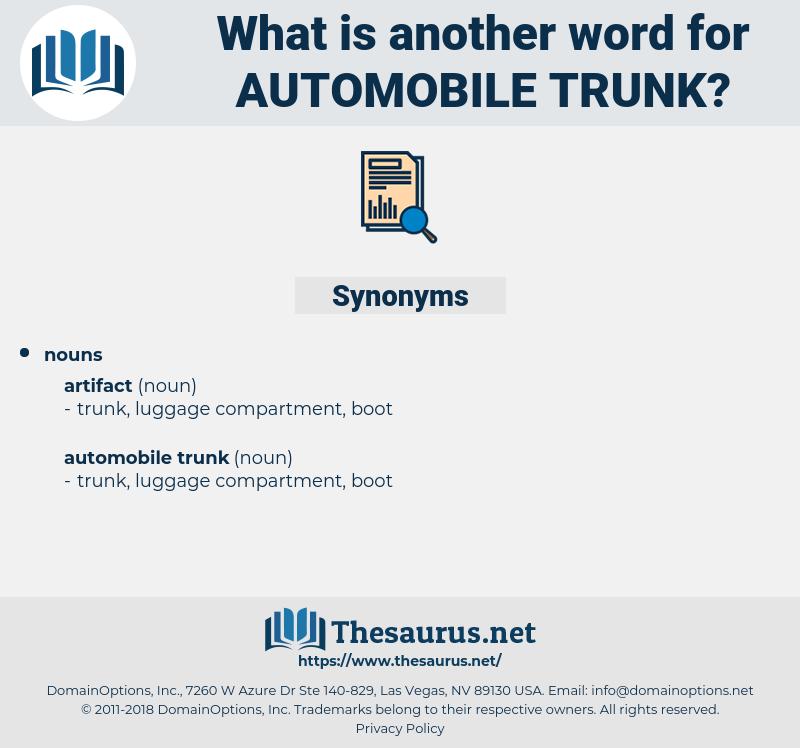 automobile trunk, synonym automobile trunk, another word for automobile trunk, words like automobile trunk, thesaurus automobile trunk
