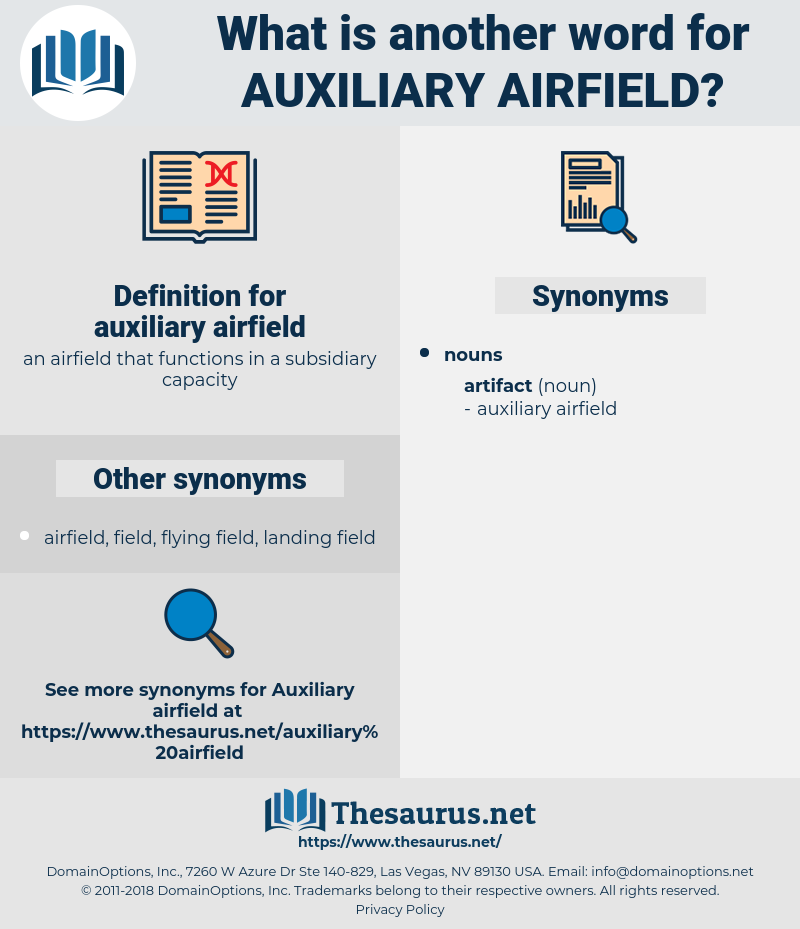 auxiliary airfield, synonym auxiliary airfield, another word for auxiliary airfield, words like auxiliary airfield, thesaurus auxiliary airfield