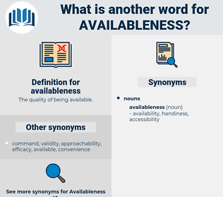 availableness, synonym availableness, another word for availableness, words like availableness, thesaurus availableness
