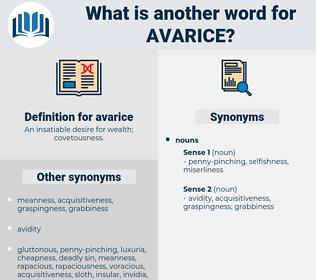 avarice, synonym avarice, another word for avarice, words like avarice, thesaurus avarice