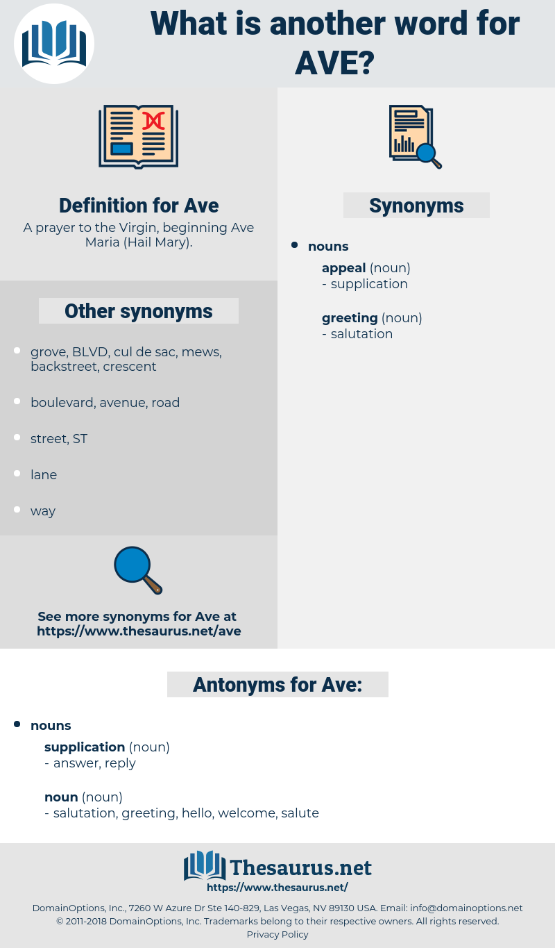 Ave, synonym Ave, another word for Ave, words like Ave, thesaurus Ave