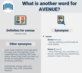 avenue, synonym avenue, another word for avenue, words like avenue, thesaurus avenue