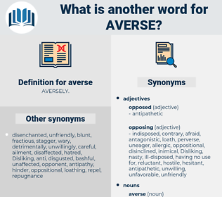 averse, synonym averse, another word for averse, words like averse, thesaurus averse