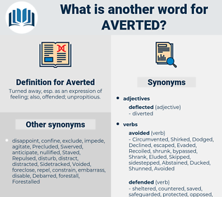 Synonyms for AVERTED - Thesaurus net