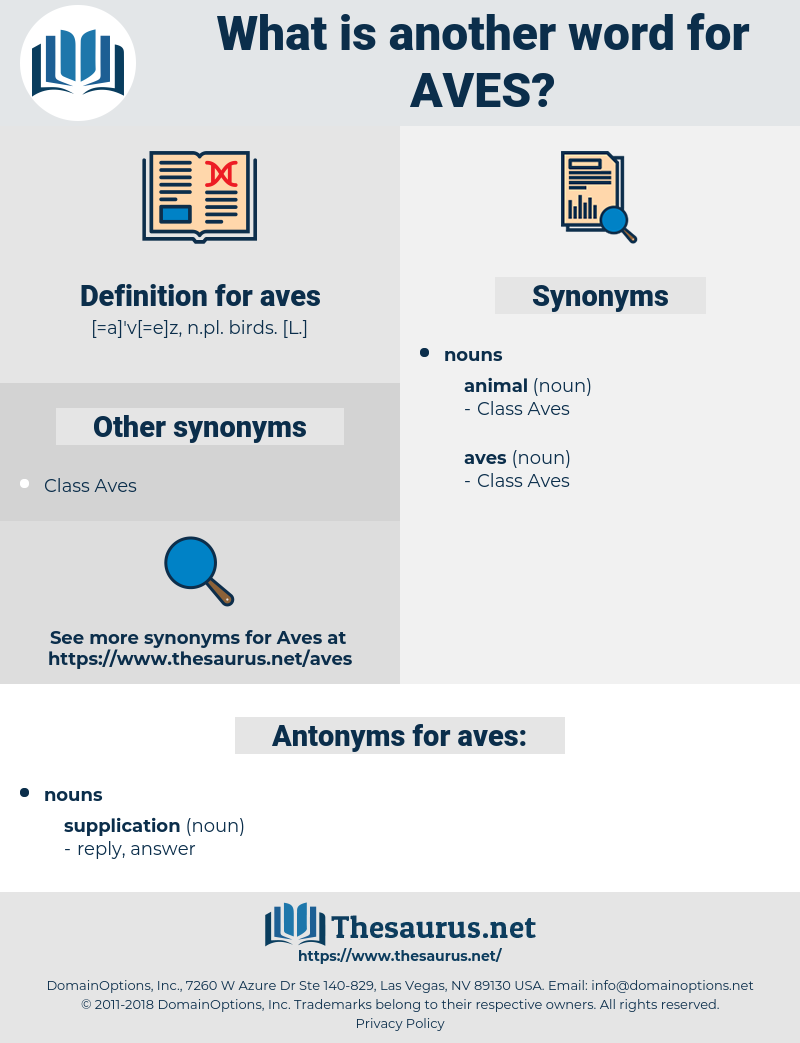 aves, synonym aves, another word for aves, words like aves, thesaurus aves
