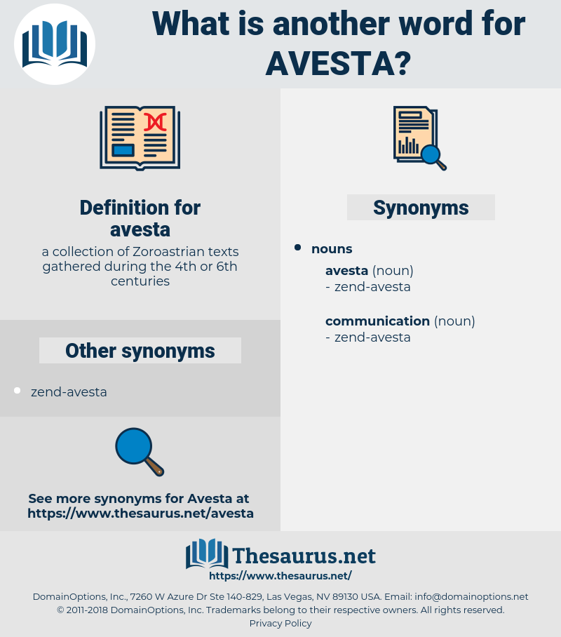 avesta, synonym avesta, another word for avesta, words like avesta, thesaurus avesta