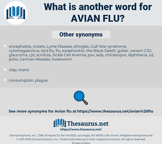 avian flu, synonym avian flu, another word for avian flu, words like avian flu, thesaurus avian flu