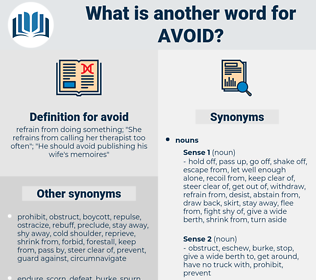 avoid, synonym avoid, another word for avoid, words like avoid, thesaurus avoid