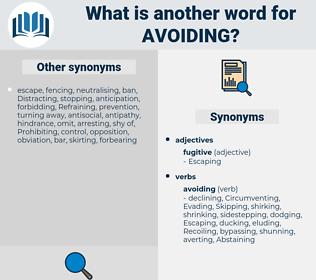 Avoiding, synonym Avoiding, another word for Avoiding, words like Avoiding, thesaurus Avoiding