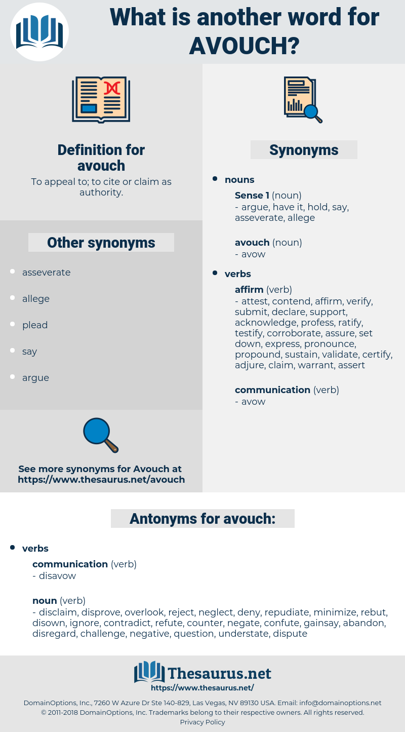avouch, synonym avouch, another word for avouch, words like avouch, thesaurus avouch