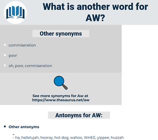 AW, synonym AW, another word for AW, words like AW, thesaurus AW