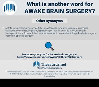 awake brain surgery, synonym awake brain surgery, another word for awake brain surgery, words like awake brain surgery, thesaurus awake brain surgery
