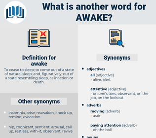 awake, synonym awake, another word for awake, words like awake, thesaurus awake