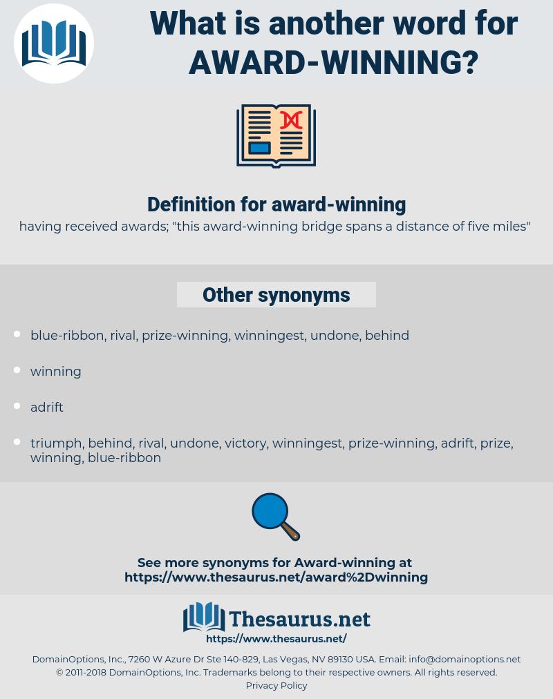 award-winning, synonym award-winning, another word for award-winning, words like award-winning, thesaurus award-winning