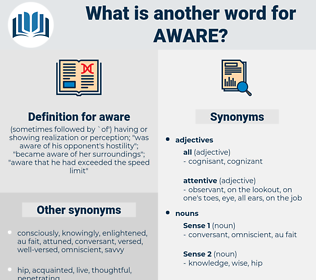 aware, synonym aware, another word for aware, words like aware, thesaurus aware