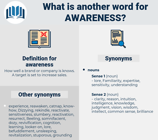 awareness, synonym awareness, another word for awareness, words like awareness, thesaurus awareness
