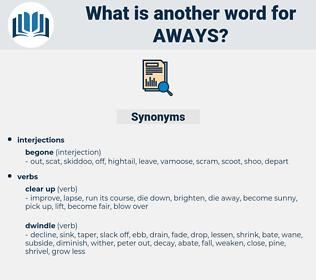 aways, synonym aways, another word for aways, words like aways, thesaurus aways