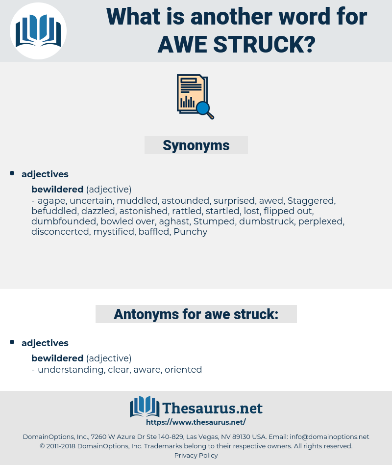 Awe-struck, synonym Awe-struck, another word for Awe-struck, words like Awe-struck, thesaurus Awe-struck