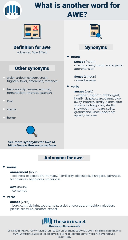 awe, synonym awe, another word for awe, words like awe, thesaurus awe