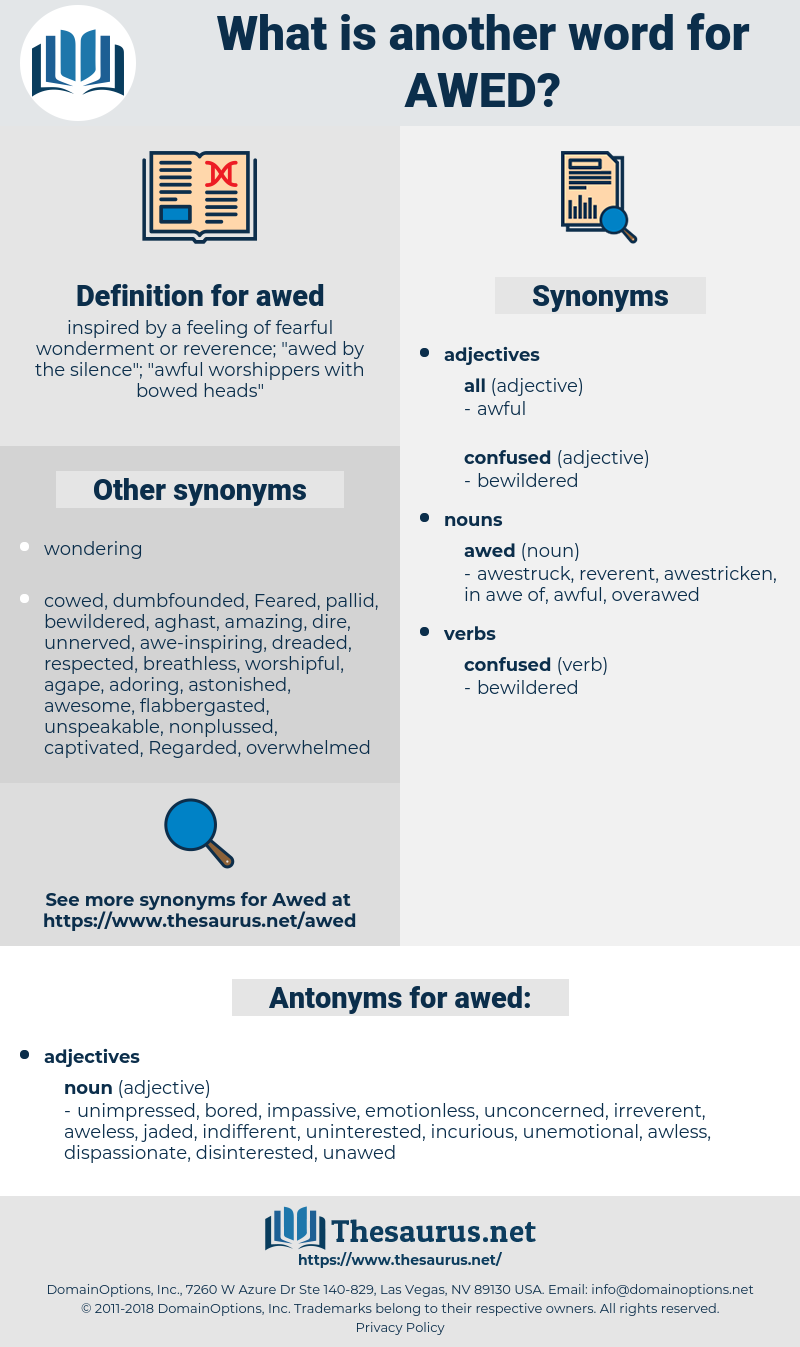 awed, synonym awed, another word for awed, words like awed, thesaurus awed