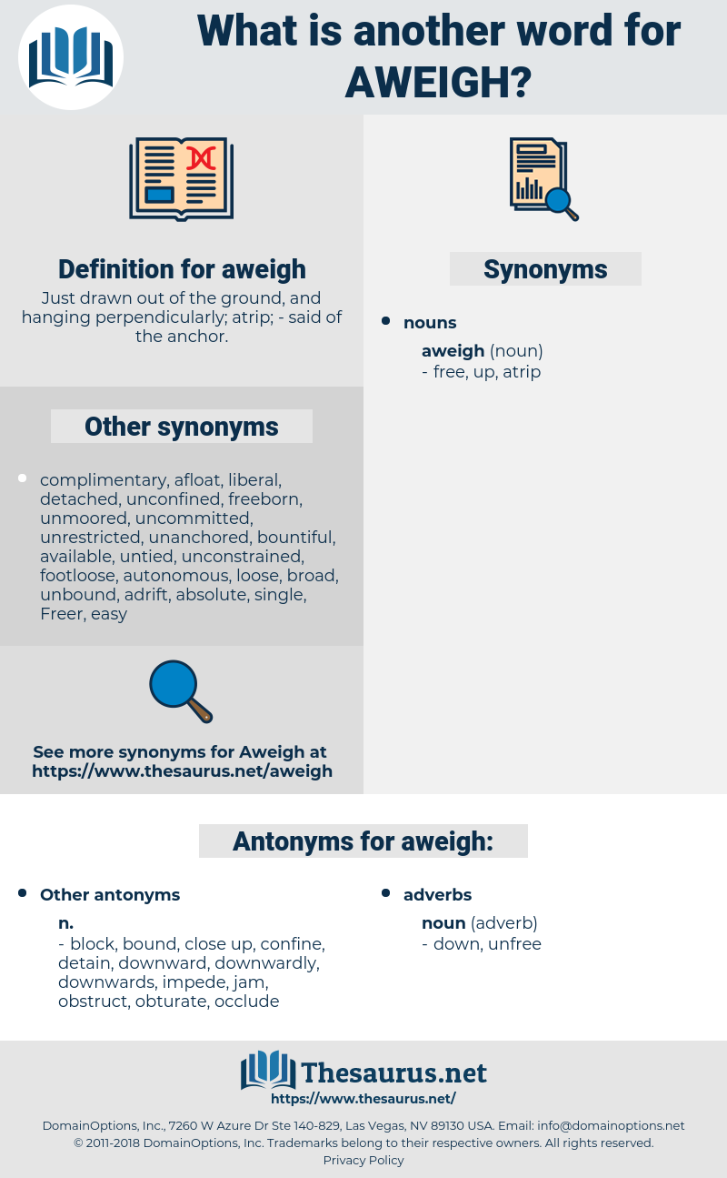 aweigh, synonym aweigh, another word for aweigh, words like aweigh, thesaurus aweigh