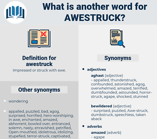 awestruck, synonym awestruck, another word for awestruck, words like awestruck, thesaurus awestruck