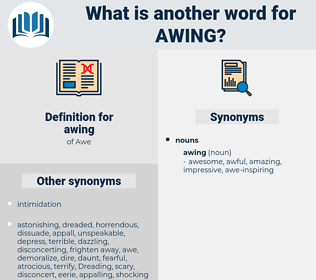 awing, synonym awing, another word for awing, words like awing, thesaurus awing