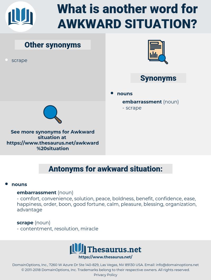 awkward situation, synonym awkward situation, another word for awkward situation, words like awkward situation, thesaurus awkward situation
